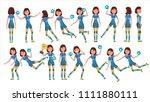 handball player female vector.... | Shutterstock .eps vector #1111880111