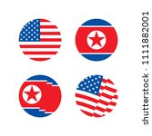 united states and north korea... | Shutterstock .eps vector #1111882001