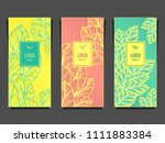 set template for package or... | Shutterstock .eps vector #1111883384
