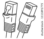 internet cable. an ethernet... | Shutterstock .eps vector #1111891775