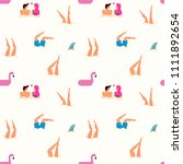 summer seamless pattern with... | Shutterstock .eps vector #1111892654