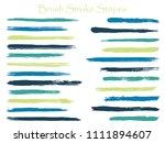 vintage ink teal brush stroke... | Shutterstock .eps vector #1111894607