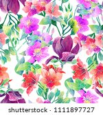 seamless floral pattern for... | Shutterstock . vector #1111897727