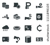 black vector icon set ruble... | Shutterstock .eps vector #1111898105