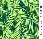 palm seamless pattern. exotic... | Shutterstock .eps vector #1111903001