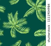 palm seamless pattern. exotic... | Shutterstock .eps vector #1111904984