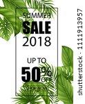 vector illustration summer sale ...   Shutterstock .eps vector #1111913957
