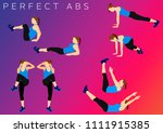 fitness motivation quote | Shutterstock . vector #1111915385