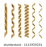 spiral golden serpentine set... | Shutterstock .eps vector #1111925231