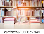book stack is placed on the... | Shutterstock . vector #1111927601
