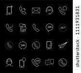 contact icon set isolated on... | Shutterstock .eps vector #1111931831