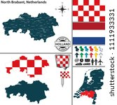 vector map of north brabant...   Shutterstock .eps vector #1111933331