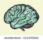 human brain | Shutterstock .eps vector #111193361