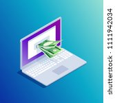 isometric concept e banking. 3d ... | Shutterstock .eps vector #1111942034