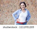 portrait of a mature attractive ... | Shutterstock . vector #1111951205
