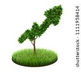 small green tree in shape of...   Shutterstock . vector #1111958414