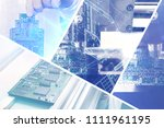 collage of computer boards with ...   Shutterstock . vector #1111961195