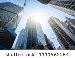 up view of modern office... | Shutterstock . vector #1111962584