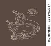 eggplant  full eggplant  a... | Shutterstock .eps vector #1111963157