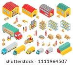 logistics isometric icons set... | Shutterstock .eps vector #1111964507