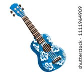 colored ukulele. blue colored... | Shutterstock .eps vector #1111964909