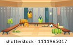 vector changing room with... | Shutterstock .eps vector #1111965017