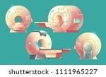 vector cartoon mri scanner for... | Shutterstock .eps vector #1111965227