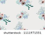 seamless pattern in small cute... | Shutterstock . vector #1111971551