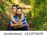 close up portrait of attractive ... | Shutterstock . vector #1111974629