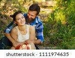 close up portrait of attractive ... | Shutterstock . vector #1111974635