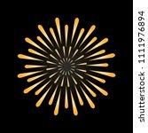 firework in gold color. symbol...   Shutterstock .eps vector #1111976894