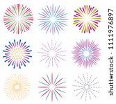 set of bright and colorful...   Shutterstock .eps vector #1111976897