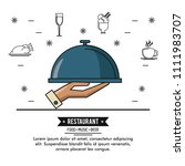 restaurant food music and beer | Shutterstock .eps vector #1111983707