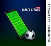 sport betting online banner... | Shutterstock .eps vector #1111993331