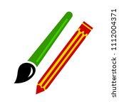 pencil paint brush pen  ... | Shutterstock .eps vector #1112004371