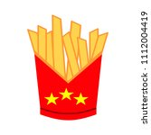 vector french fries box... | Shutterstock .eps vector #1112004419