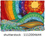 fantasy color picture.the hot... | Shutterstock .eps vector #1112004644