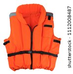 Orange Life Jacket Isolated On...