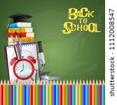 education concept. back to... | Shutterstock .eps vector #1112008547