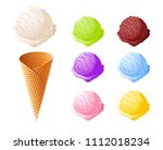 ice cream. set of summer... | Shutterstock .eps vector #1112018234