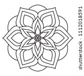 easy mandala coloring simple... | Shutterstock . vector #1112018591