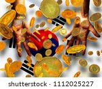 bitcoin crypto currency korea... | Shutterstock . vector #1112025227