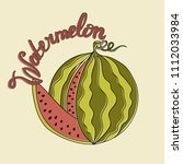 national watermelon day poster. ... | Shutterstock .eps vector #1112033984