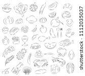 graphic food  vector   Shutterstock .eps vector #1112035037