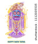 vector design of ratha yatra of ... | Shutterstock .eps vector #1112035535