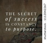 quote for a successful life.... | Shutterstock . vector #1112042267