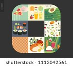 simple things   meal   flat... | Shutterstock .eps vector #1112042561