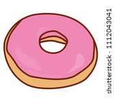 delicious donut with cream | Shutterstock .eps vector #1112043041