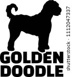 Goldendoodle Silhouette Real...
