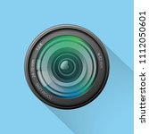 realistic camera lens icon on... | Shutterstock .eps vector #1112050601